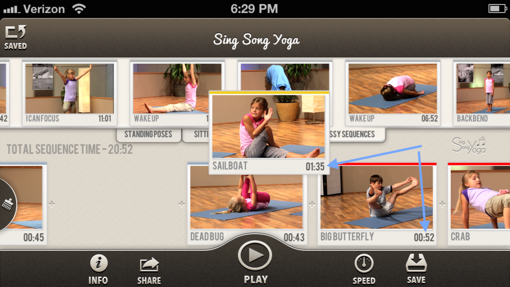 SSY app pic arrow pose length