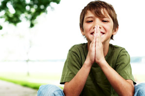 Young Boy in a Yoga Pose
