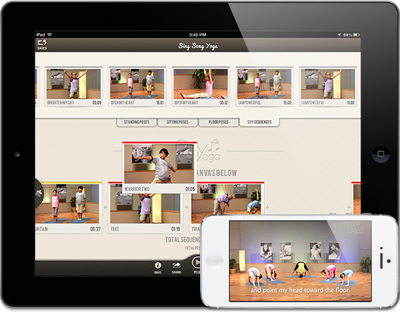 Sing Song Yoga iPhone & iPad App